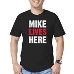 MIKE LIVES HERE Men's Fitted T-Shirt (dark)