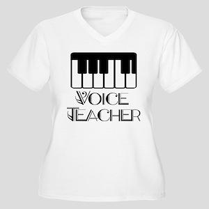 Voice Teacher Women's Plus Size V-Neck T-Shirt