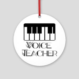 Voice Teacher Ornament (Round)