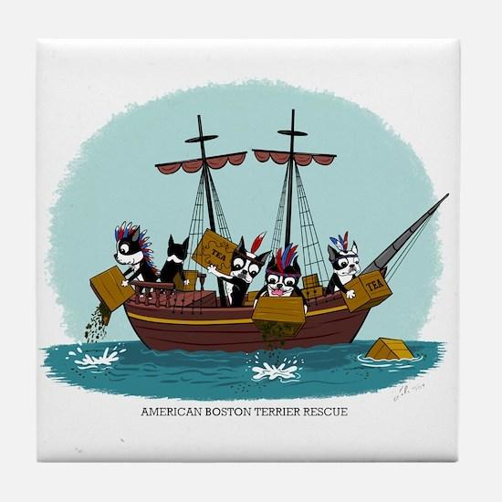 Boston Tea Party Tile Coaster