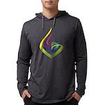 Mens Hooded Shirt Long Sleeve T-Shirt
