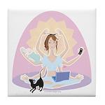 Busy Zen Mom Tile Coaster
