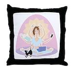Busy Zen Mom Throw Pillow