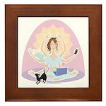 Busy Zen Mom Framed Tile