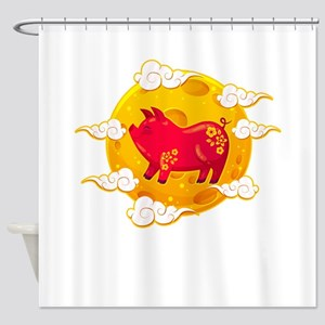 Chinese New Year 2019 Year of the P Shower Curtain