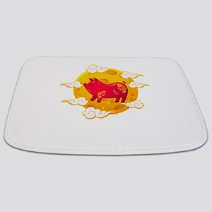Chinese New Year 2019 Year of the Pig Desi Bathmat