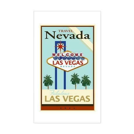 Travel Nevada Sticker (Rectangle)
