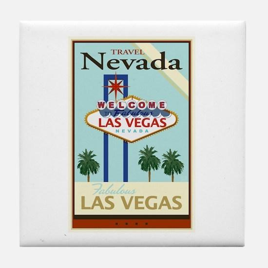 Travel Nevada Tile Coaster