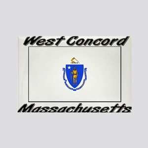 West Concord Massachusetts Rectangle Magnet