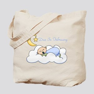 Due In February (Boy) Tote Bag