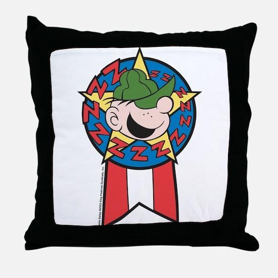 Snore Award Throw Pillow