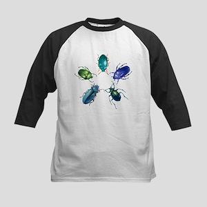 Five Shiny Beetles Kids Baseball Jersey