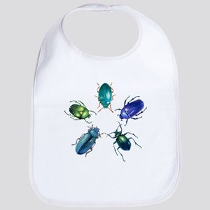 Five Shiny Beetles Bib