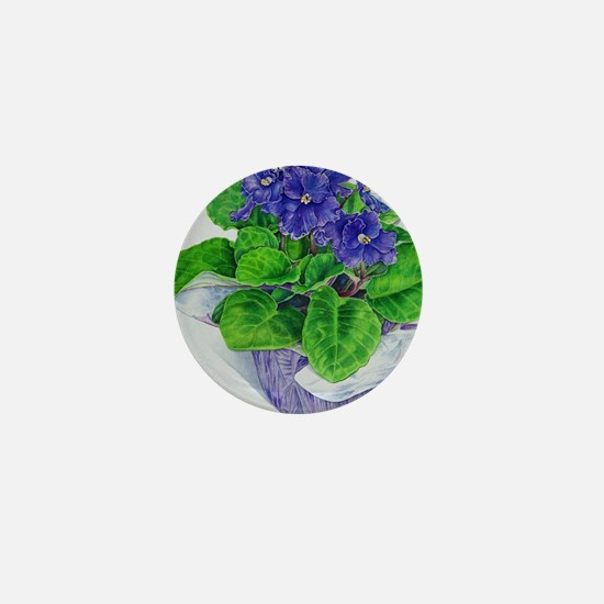 Cute Violet Mini Button