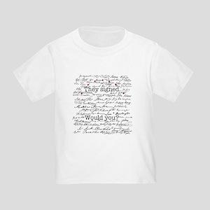 Declaration of Independence Toddler T-Shirt
