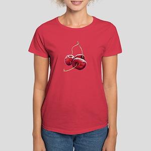 Three Cherries Women's Dark T-Shirt