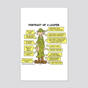 Portrait of a Loafer Mini Poster Print