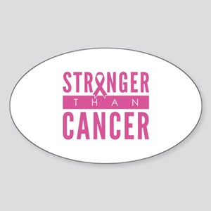 Stronger Than Cancer Sticker (Oval)