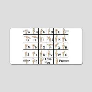 AmeslanAlphabet120710 Aluminum License Plate