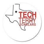 Tech Terry Lubbock Round Car Magnet