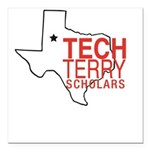 Tech Terry Lubbock Square Car Magnet 3