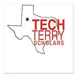 Tech Terry Lubbock Square Car Magnet 3