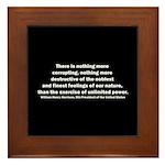 William Henry Harrison Quote Framed Tile