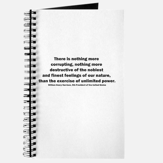 William Henry Harrison Quote Journal