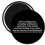 William Henry Harrison Quote Magnet