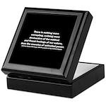 William Henry Harrison Quote Keepsake Box