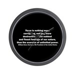 William Henry Harrison Quote Wall Clock