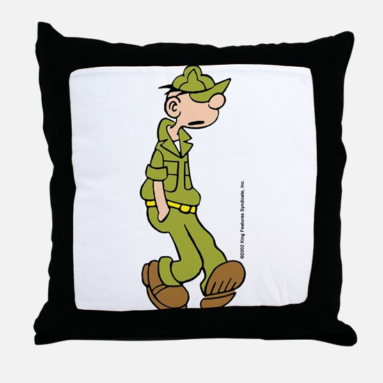 Funny Kingfeatures Throw Pillow