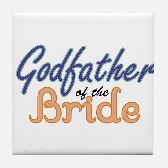 Godfather of the Bride Tile Coaster