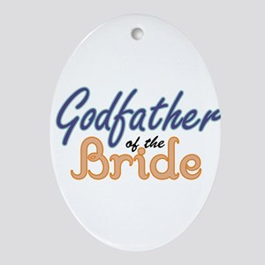 Godfather of the Bride Oval Ornament