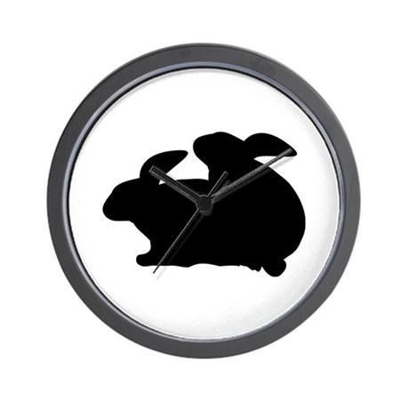 rabbits in love Wall Clock