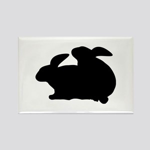 rabbits in love Rectangle Magnet