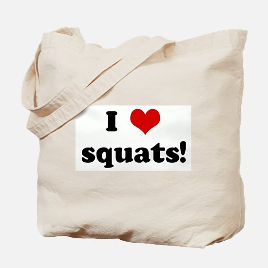 I Love squats! Tote Bag
