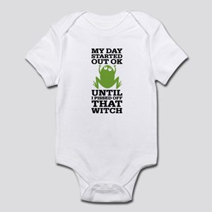 Funny Frog Mean Witch Infant Bodysuit