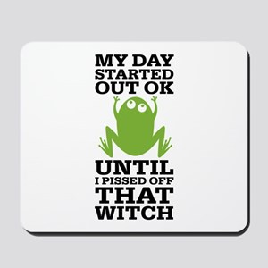Funny Frog Mean Witch Mousepad