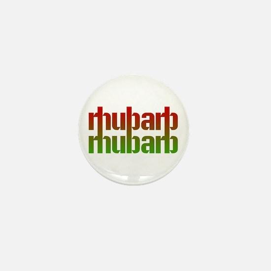 rhubarb Mini Button