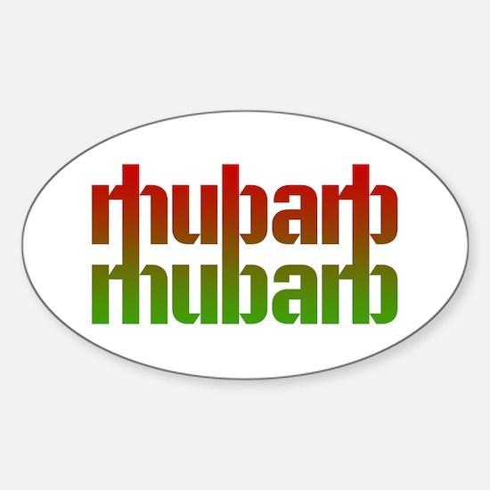 rhubarb Oval Decal
