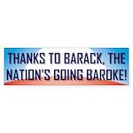 Thanks To Barack Bumper Sticker