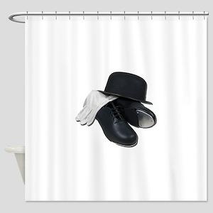 TapShoesBowlerGloves012511 Shower Curtain