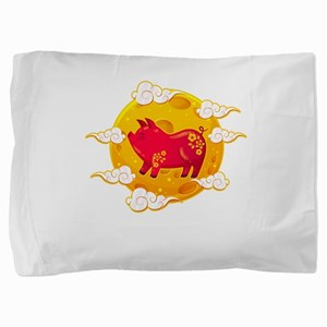 Chinese New Year 2019 Year of the Pig Pillow Sham