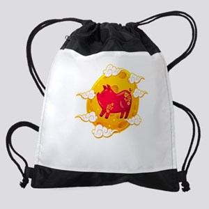 Chinese New Year 2019 Year of the P Drawstring Bag