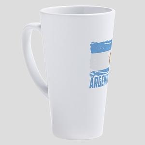 Football Worldcup Argentina Argent 17 oz Latte Mug