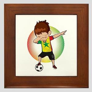 Football Dab Senegal Senegalese Footba Framed Tile