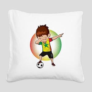 Football Dab Senegal Senegale Square Canvas Pillow
