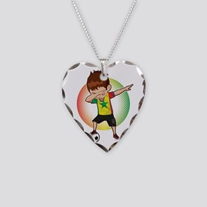 Football Dab Senegal Senegale Necklace Heart Charm