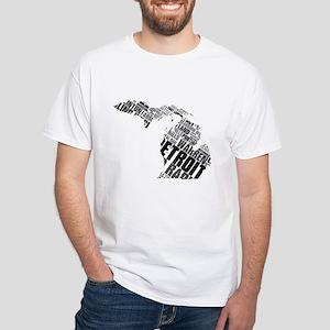 White Michigan T-Shirt